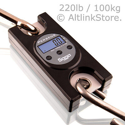Saga Industrial Crane Scale 220lb100kg X 0.2lb 0.1kg Mini Digital Hanging Scale