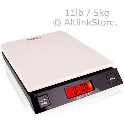 Saga Digital Kitchen Scale 11lb 5kg5000g X 1g Oz Diet Food Weight Postal Wspd