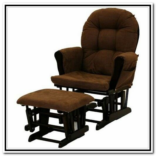 Stork Craft Hoop Glider and Ottoman Set, Espresso/Chocolate, New, Pick Up Only