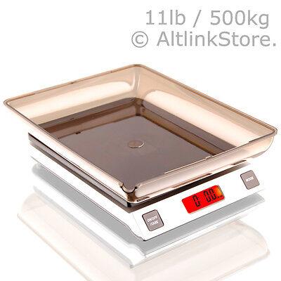 SAGA Digital Kitchen Scale 11lb 5kg / 5000g X 1g oz Diet Food Postal W/S/Bw Bowl