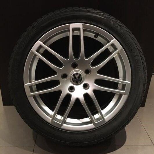 "Set Of 4 VW/Audi 17"" Alloy Wheels With Vredestein Winter Extreme Tyres 225/45 R17"