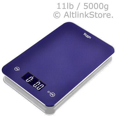 SAGA Digital Kitchen Scale Touch Glass 11lb 5kg / 5000g X 1g oz Diet Food Postal