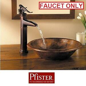 NEW PFISTER ASHFIELD VESSEL FAUCET - 114846877 - SINGLE HANDLE TUSCAN BRONZE BATH BATHROOM SINKS SINK FAUCETS FIXTURE...