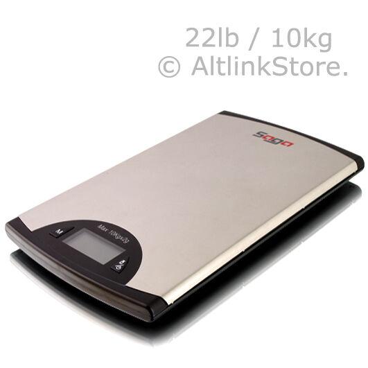 SAGA Digital Kitchen Scale 22 lb 10 kg X2g 0.1oz Diet Food Weight Postal W/11/ST