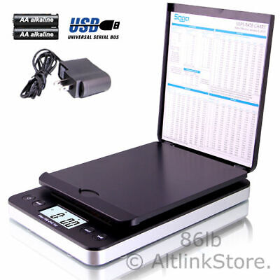 Saga Digital Postal Scale 86lb X 0.1oz Shipping Scale Weight Postage Wac In Usb