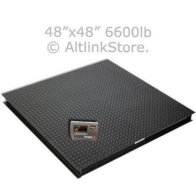 "SAGA  6600lb*1lb 4x4 48"" Digital Pallet Shipping Platform Floor Scale W/Ind"
