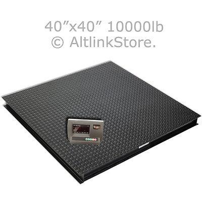 "SAGA New 10000lb*1lb 4 X4 40"" Digital Pallet Shipping Platform Floor Scale W/Ind"