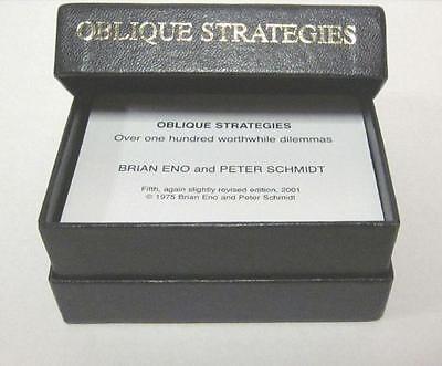 Brian Eno / Peter Schmidt - Oblique Strategies Cards - New