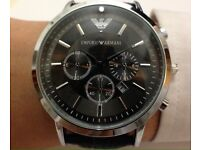 Armani Watch Black & Black