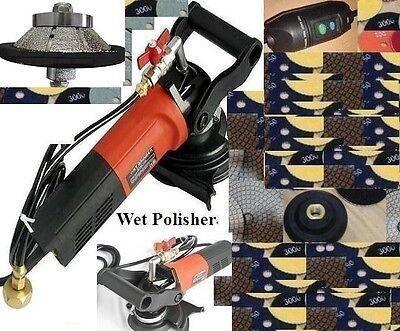 34 38 Bevel Bullnose Wet Polisher Polishing 16 Pad Stone Concrete Countertop