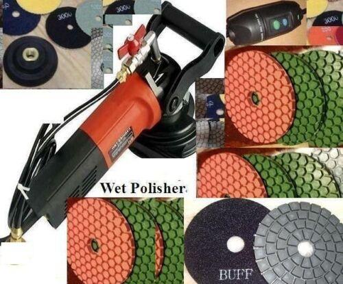 Wet Polisher Ultra Thick floor polish pad 12 + buff concrete ceramic travertine