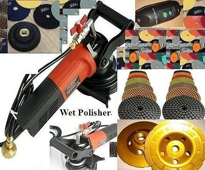 5 Inch Wet Concrete granite Polisher Best Quality Polishing 25 Pad 2 Cup