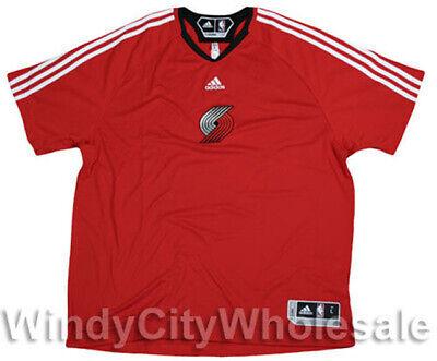 Adidas NBA Men's Portland Trail Blazers Shooting Shirt, Red Adidas Shooting Shirts