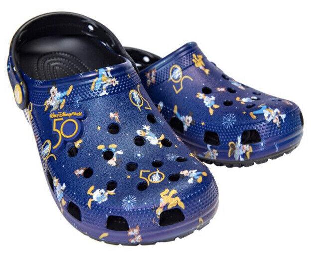 Walt Disney World 50th Anniversary Celebration Crocs Shoes M6 W8 6/8 NEW MK WDW