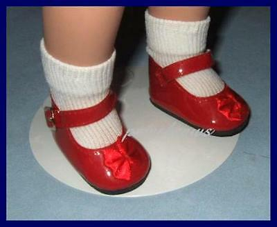 "Classic RED Patent 2-1//2 x 1-1//8 inch Mary Jane Doll SHOES fit 16/"" FOUR SEASONS"