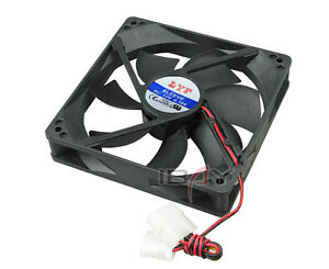 2x12 VOLT DC BRUSHLESS COOLING FAN 12025 120 x 120x 25 mm FOR CAR AUDIO/COMPUTER