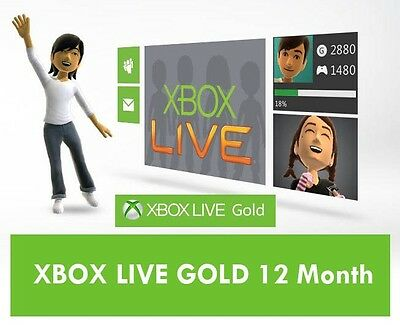 Xbox 360 LIVE 12 Month Gold Membership Card Subscription - NEW!
