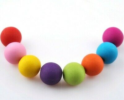Colored Findings (100 pcs mixed color acrylic Matte beads spacer findings charms 8mm )