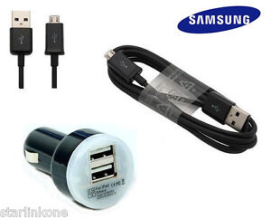 2.1A Car Charger + OEM Micro USB Cable for Samsung Galaxy S4 S3 S 3 4 Note 2 3