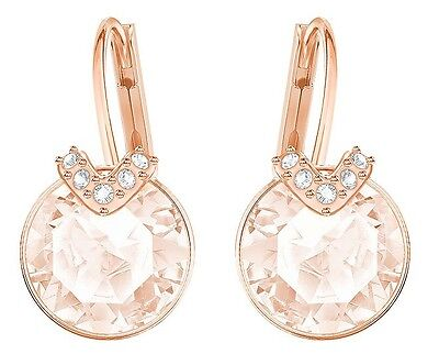(BELLA V CRYSTAL PIERCED EARRINGS PINK ROSE GOLD 2017 SWAROVSKI JEWELRY  5299318)