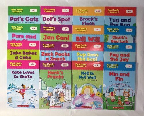 Word Family Readers Kids Books Phonics Lot 16 + Bonus Full Size Teaching Guide