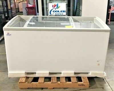 New 60 Ice Cream Glass Dipping Freezer Chest Showcase Display Commercial Nsf