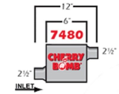 Offset//Center Cherry Bomb PRO Muffler 7406CB 4 inch x 9 3//4 inch OVAL NEW