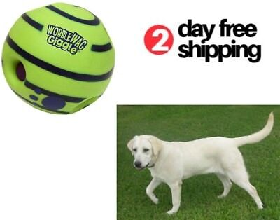 Dog Ball Makes Noise Rolls Pets Toy Funny Sounds Medium Puppy Playing Training