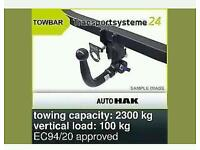 Detachable towbar hook (vertical) electric kit BMW series 7 E65 E66 2001/2008