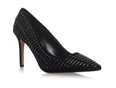 Vince Camuto Narissa Black Suede Heeled Court Shoes UK 6 EU 38...