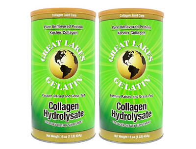 Great Lakes Gelatin  2 Collagen Hydrolysate 16 Ounce Cans