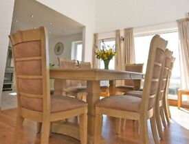 Large Dining Table and 8 Chairs Good Condition