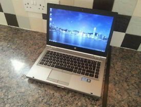 "HP 8460p 14.1"" LAPTOP, FAST i5 2x 3.10GHz, 6GB, 250GB, WIFI, BLUETOOTH, DVDR, WEBCAM, USB3.0, OFFICE"