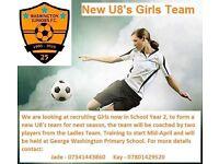 Year 2 girls football team
