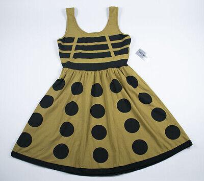 HOT TOPIC DOCTOR WHO HER UNIVERSE WOMENS NWT MEDIUM GOLD DALEK DRESS COSPLAY - Dalek Dress