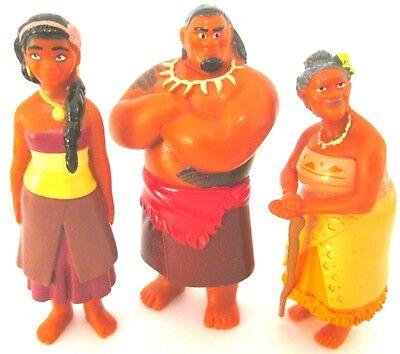 TUI Sina GRAMMA TALA 3 Figure Set MOANA FAMILY Disney Movie TOY PVC Cake Topper!