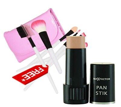 Max Factor Pan Stick 13 Nouvea Beige (Makeup Foundation Brushes Kit) Free