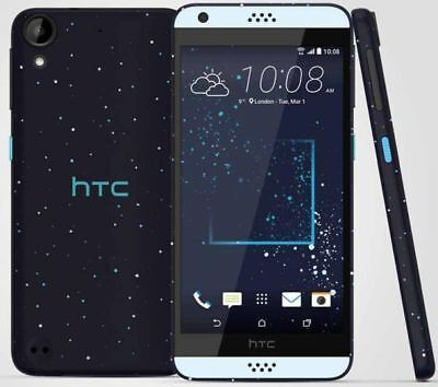 "New HTC Desire 530 Blue Lagoon 16GB GPS NFC 5"" 8MP Android Unlocked Smartphone"
