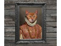 Personalised Vintage Pet Portrait - Customised with your Pet's Face