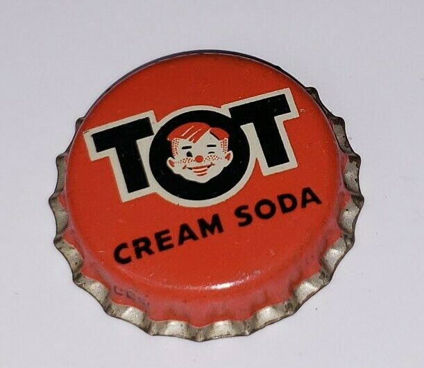 Unused RARE TOT Cream Soda Bottle Cap Vintage Advertising CORK LINED
