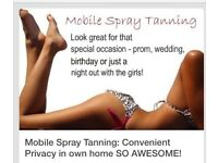 Mobile spray tans and beauty treatments
