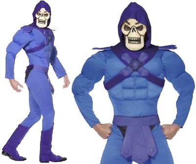 Mens Licensed Deluxe Skeletor from He-Man Fancy Dress Costume & Mask by Smiffys - Skeletor Costumes