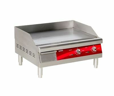 24 Commercial Restaurant Deli Electric Countertop Flat Top Grill Food Griddle