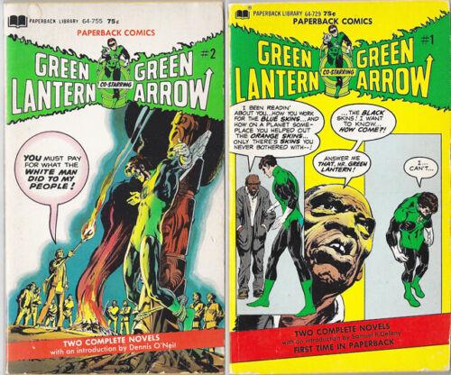 GREEN LANTERN/GREEN ARROW Paperback set