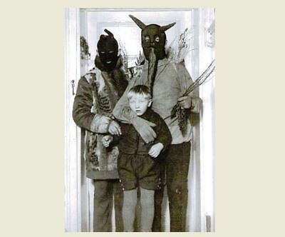 Vintage Creepy Family Halloween Hoods PHOTO Scary Costume Freak Kid Child Boy (Scary Vintage Halloween Photos)