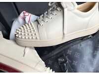 Christian Louboutin Low Top Cream Leather