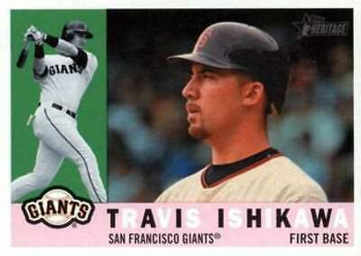 2009 Topps Heritage #637 Travis Ishikawa Giants (High Series) NM-MT