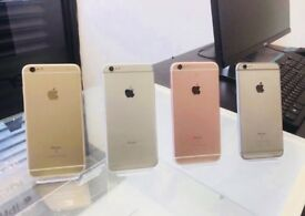 APPLE iPHONE 6S 16GB - 64GB - 128GB, WITH SHOP RECEIPT & WARRANTY - ALL COLOURS & NETWORKS AVAILABLE