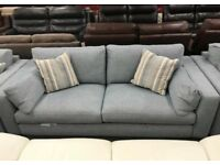 Blue fabric 3 + 2 + 1 Sofa Suite