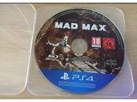 PlayStation 4 Mad Max NO CASE